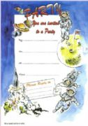 Spacemen Party Invitations - Pack of 20